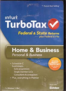 TurboTax Home and Business Federal & State Returns + E-File 2013 Win/Mac