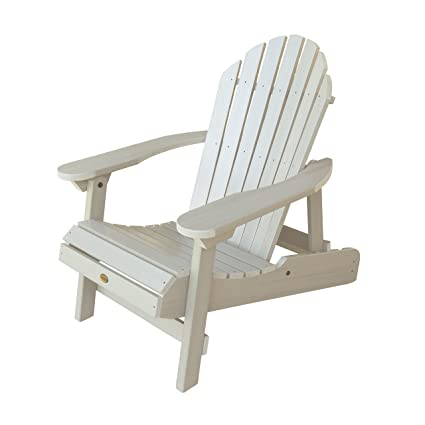 Highwood Hamilton Folding And Reclining Adirondack Chair, Adult Size,  Whitewash