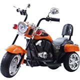 DTIDIRECT Freddo Chopper Style Electric Ride On Motorcycle for Kids - 6V Battery Powered 3 Wheel Ride On Toy for Boys…