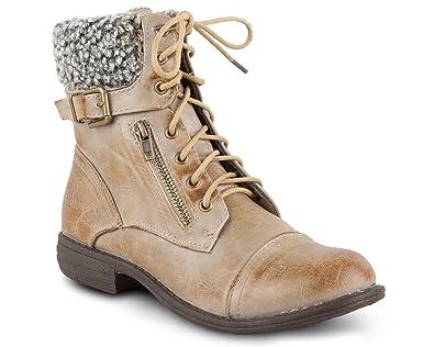 Women's Jamie Sherpa Cuff Combat Boot