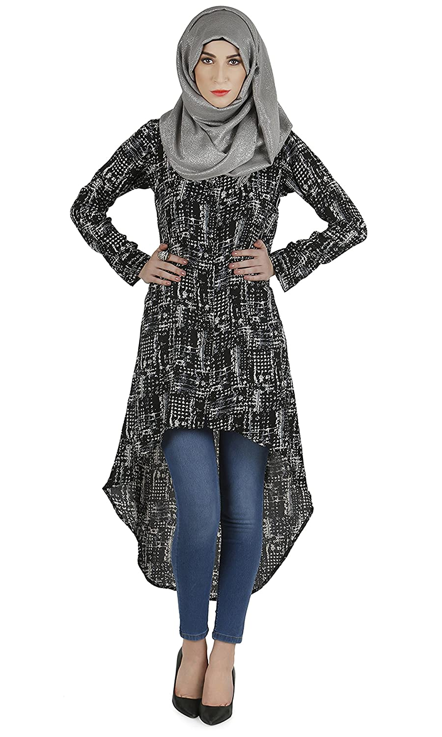 Modest Forever Printed flared long tunic modestforever