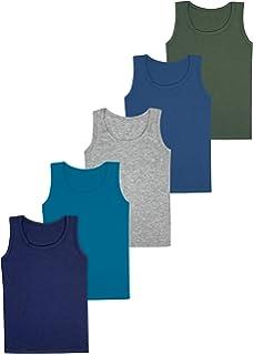 LOREZA ® 5 Camisetas de niño Camiseta sin Mangas de algodón ...