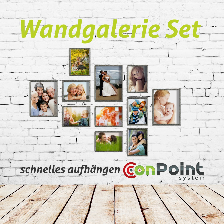 Amazon.de: 11er Set von Bilderrahmen 13x18 und 18x24 Bilderrahmen ...