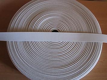 5 m Gummiband 25 mm wei/ß