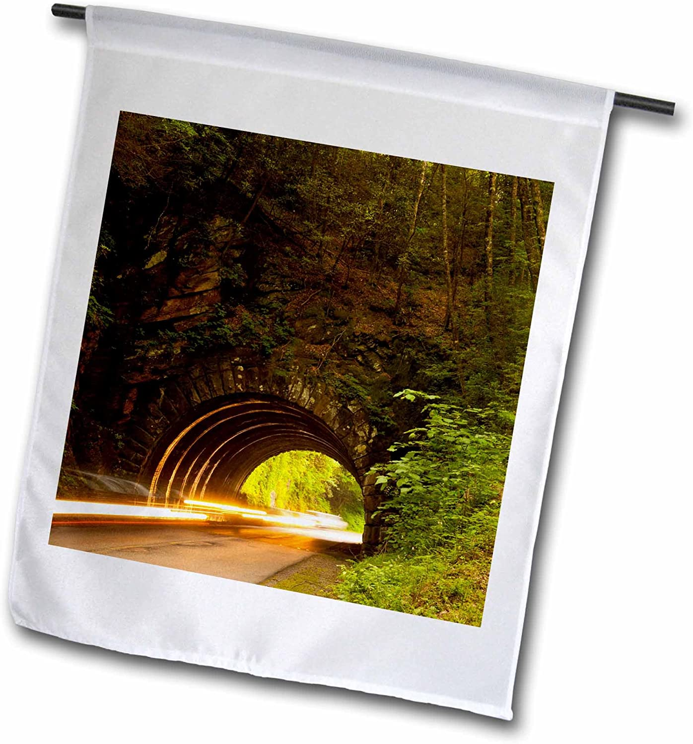3dRose Tunnels, Great Smoky Mountains, Tennessee, USA - Jaynes Gallery - Garden Flag, 12 by 18