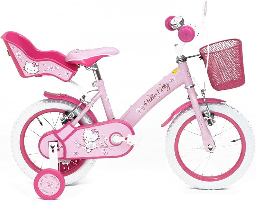 Ironway Romántica Rosa Hello Kitty para Bicicleta 14: Amazon.es ...