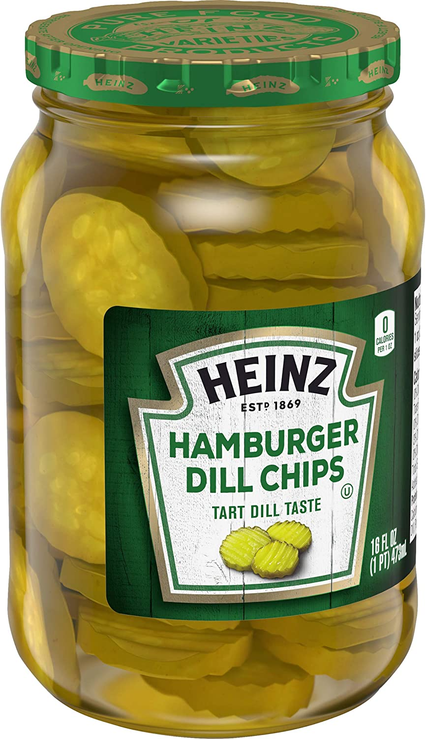 Heinz Hamburger Dill Chips 473ml 16 Fl Oz Amazon Co Uk Grocery