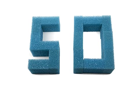 Sin marca Estera de esponja de filtro gruesa de 50 piezas Pecera ajusta Juwel Compact