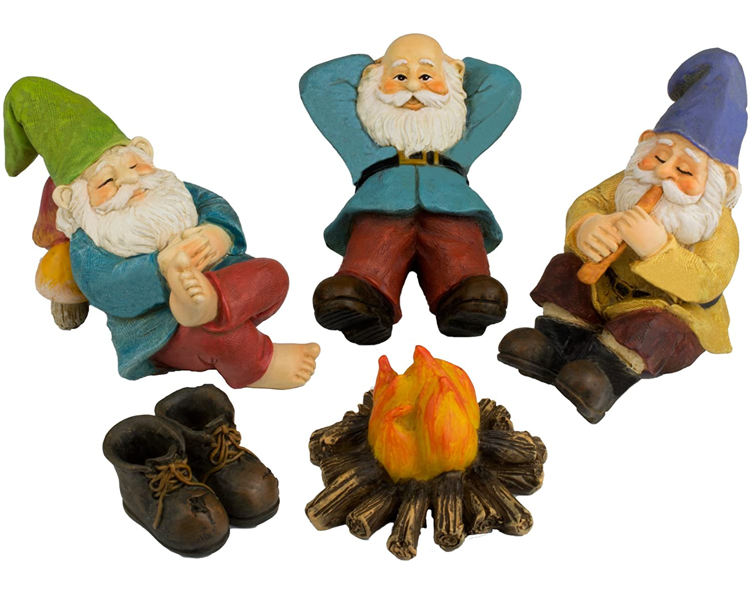 The Relax by the Campfire (Five Piece) Mini Gnome Set