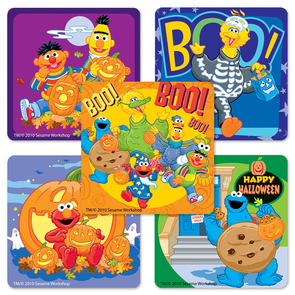 Halloween Sesame Street Stickers - 75 Per Pack