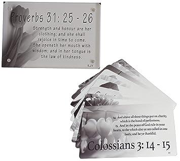 Amazoncom Emm Faith Bundle Womens Scripture Cards 10 Pack Kjv