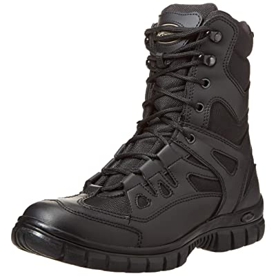 "VOODOO TACTICAL 04-8479 9"" Side Zip High Speed Tactical Boot, Black: Sports & Outdoors"