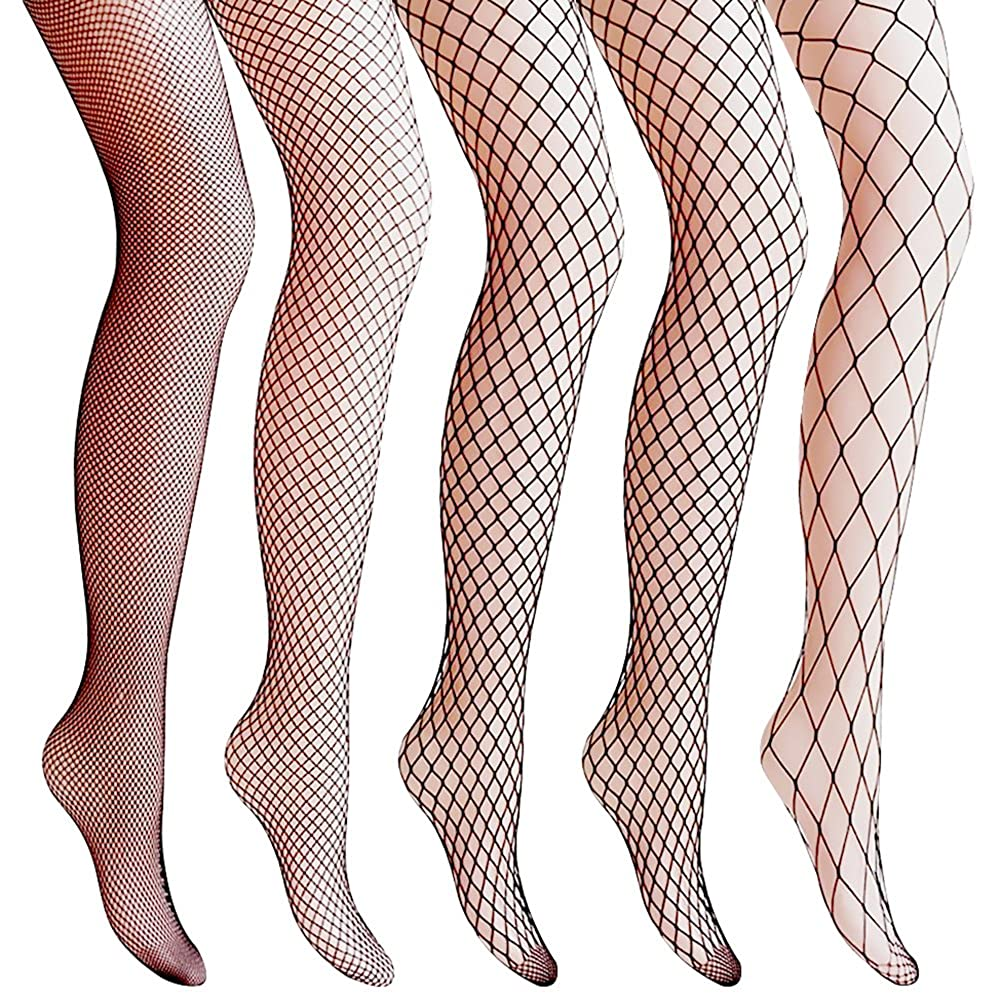 85816b46bdccf Amandir 4-5 Pairs Fishnet Stockings Womens Lace Mesh Patterned Fishnet  Leggings Tights Net Pantyhose at Amazon Women's Clothing store: