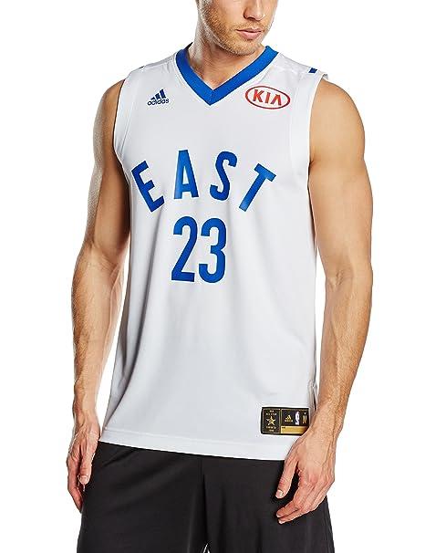 Adidas – Camiseta de Baloncesto para Hombre, diseño NBA All Star Game East Swingman, réplica de la Camiseta n.º 23 de Lebron James