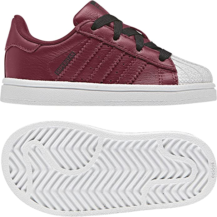 adidas Superstar Sneakers Baby Schuhe Unisex Violet mit weißen Streifen
