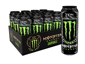 Monster Energy Import, Energy Drink, 18.6 Ounce (Pack of 12)