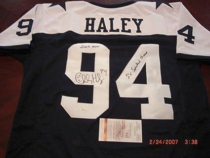 7ae78254a Charles Haley Autographed Jersey - 49ers 5x Sb Champ hof 2015 coa - JSA  Certified -