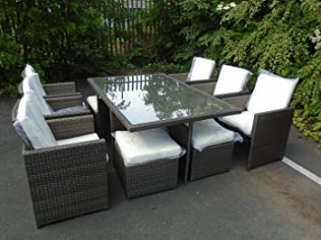 Outdoor Küche Cube : Outdoor terrasse sitz garten rechteck rattan gartenmöbel set