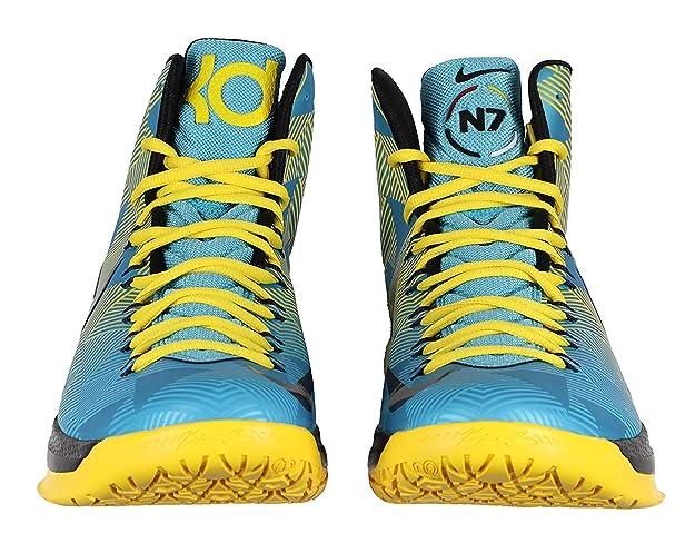 reputable site 481e5 3f94b Amazon.com   Nike Men s KD VI N7 Basketball Shoes 13 M US Turquoise Blue  Yellow   Basketball
