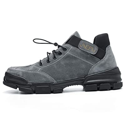 High Cut Work Safety Shoes for Men Women, Unisex Construction Sneakers, Widen Steel Toe Cap, KELVAR Midsole Layer, Anti-Smashing and Puncture-Proof, Full Protection for Feet: Shoes