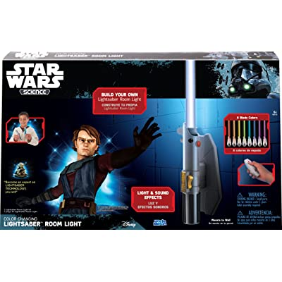 Star Wars Science Multicolor Lightsaber Room Light - Uncle Milton: Toys & Games