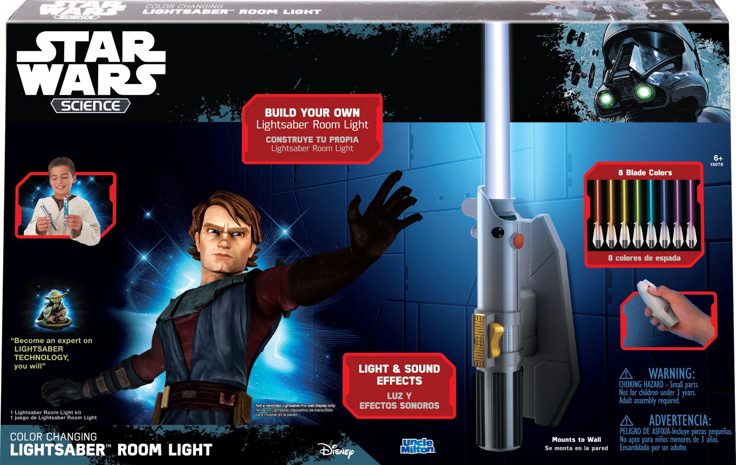Star Wars Science Multicolor Lightsaber Room Light - Uncle Milton