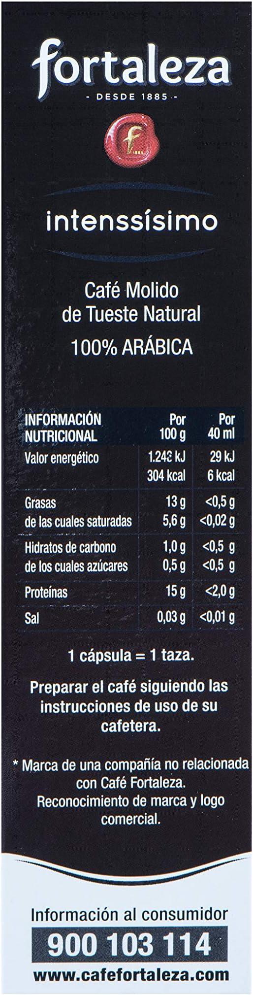 Café Fortaleza Café Intenssisimo - 10 cápsulas: Amazon.es ...