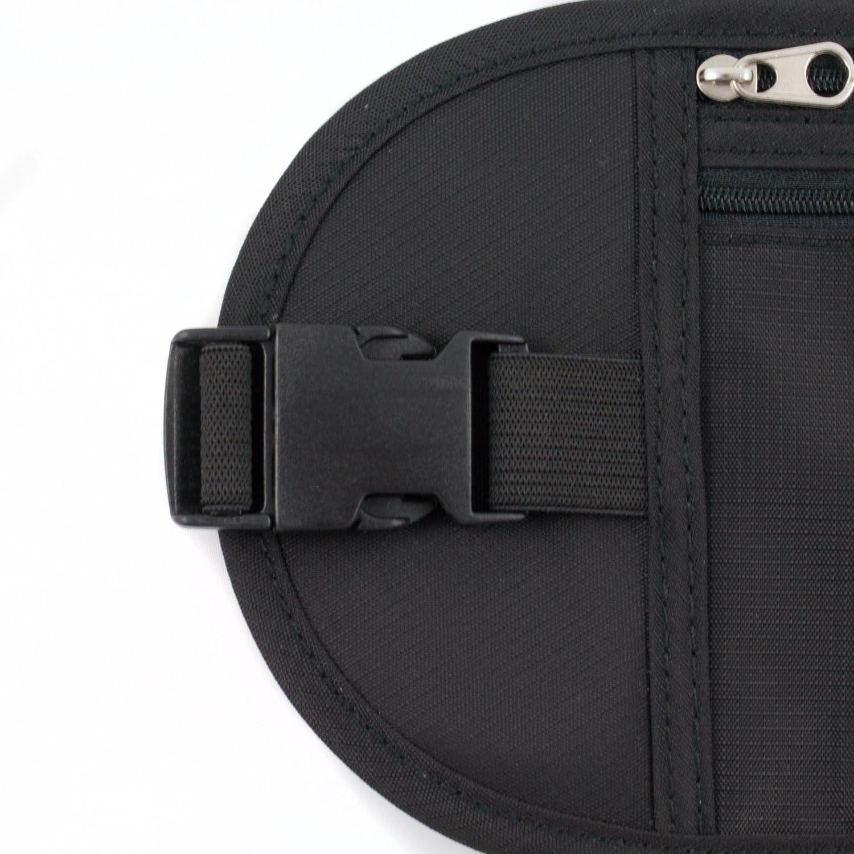 Cintur/ón de Dinero Cintur/ón Oculto de Seguridad Bajo la Ropa para Tarjetas de Debito Credito y Pasaporte MountFlow Ri/ñonera Interior de Viaje RFID