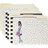 """C.R. Gibson 9-Count File Folders, By Winks, Includes 10 Adhesive Labels, Measures 11.5"""" x 9.5"""" - Fashionista"""