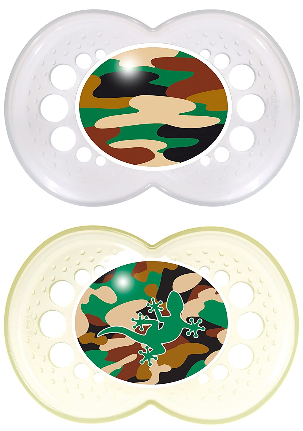 MAM Pacifiers, Baby Pacifier 16+ Months, Best Pacifier for Breastfed Babies, Camo Camouflage Designs,...