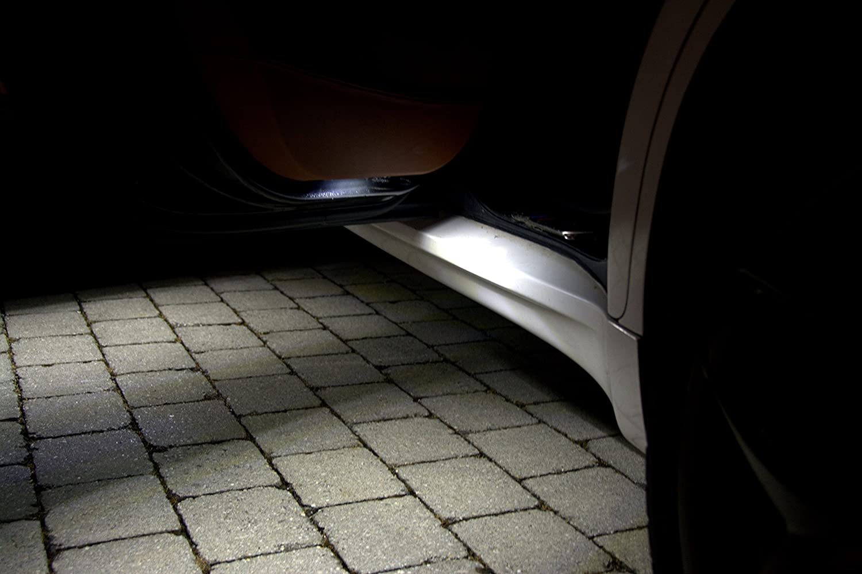 4x SMD luces de salida de la puerta LED adecuados para BMW E46 E36 E90 E39 E60 E61 Serie 3 Serie 5 Xenon Can-bus