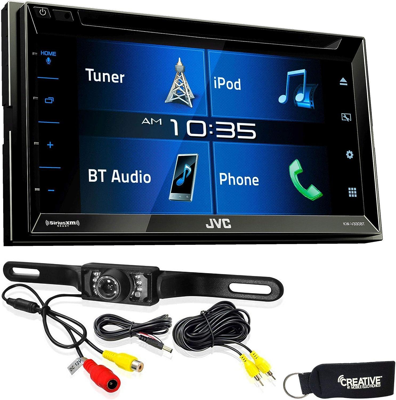 "JVC 6.8"" Double DIN Bluetooth in-Dash DVD/CD/AM/FM/Digital Media Car Stereo"