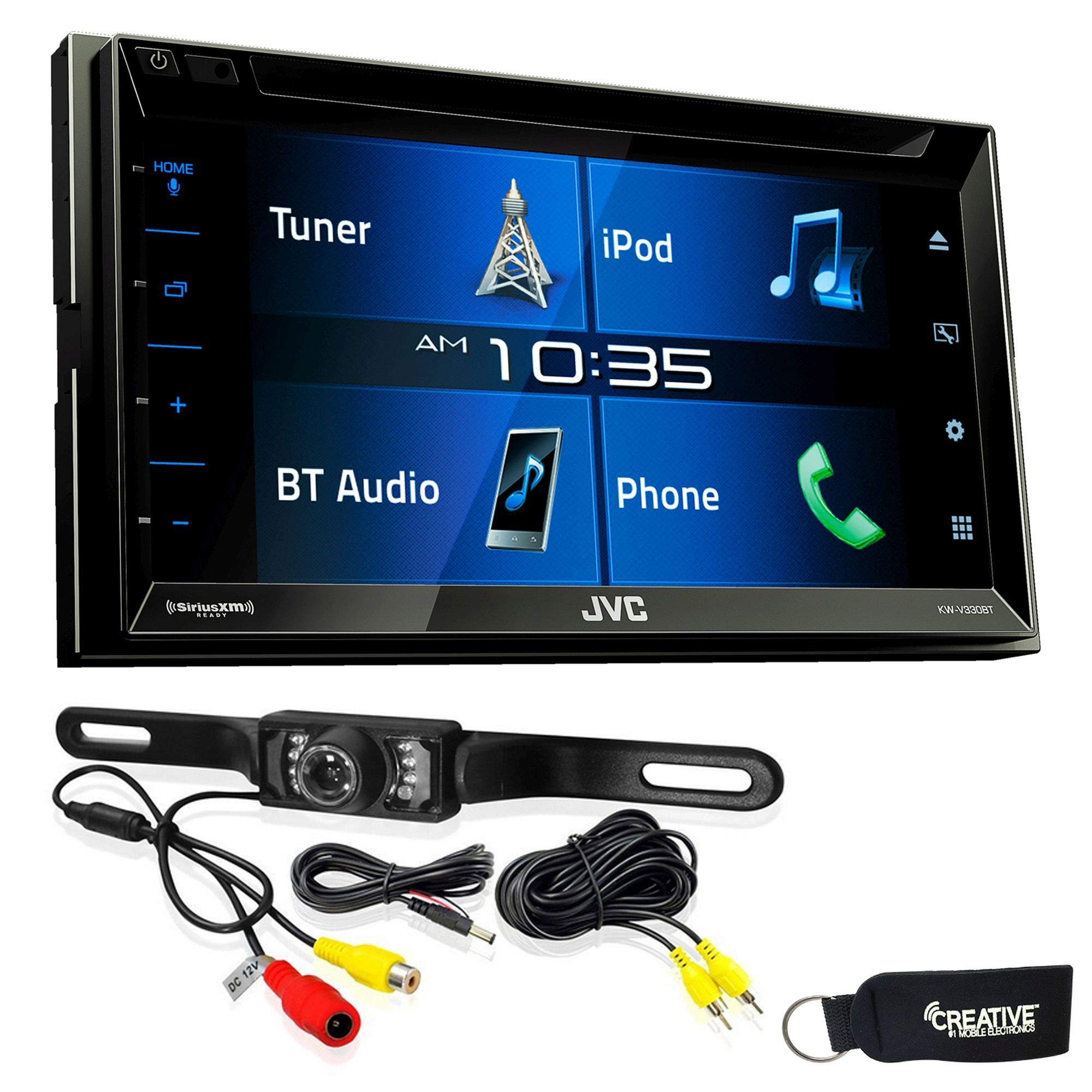 JVC KW-V330BT 6.8'' Double DIN Bluetooth in-Dash DVD/CD/AM/FM/Digital Media Car Stereo with Rear View Camera