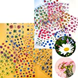 Over 1500Pcs Mother's DayNail Sticker, 30 Sheets Dry Flower Self-Adhesive Rose Daisy Flowers Butterfly Nail Decals Colorful F