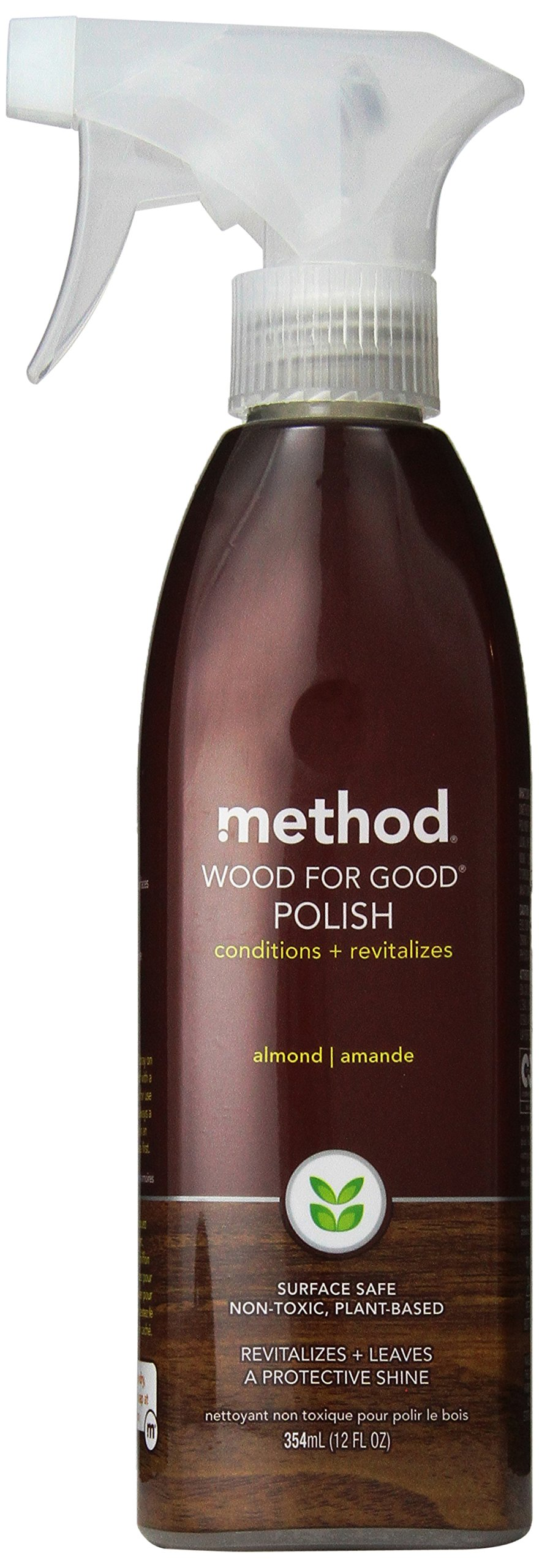 Method Home Care Products 12 Oz Almond Wood For Good® Wood Surface Spray Polisher pack of 2