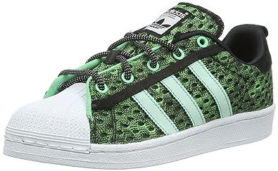 adidas Superstar GID, Chaussures de Skateboard Homme, Vert (Core Black/Shock Mint