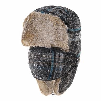 WITHMOONS Nieve Sombrero Gorros de Aviador Invierno Cálido Tartan Check Ear Flap  Cap Winter Hat Trooper 3cba5924f80