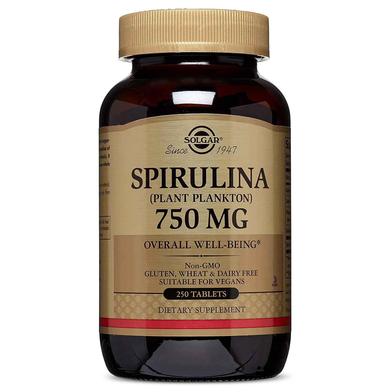 Solgar Spirulina Tablets, 750 mg, 250 Count