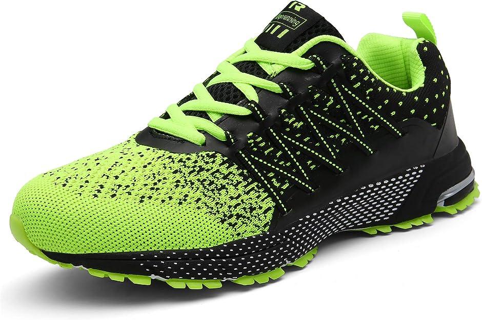 Sollomensi Sneakers Herren Damen Unisex Schwarz/Neongrün