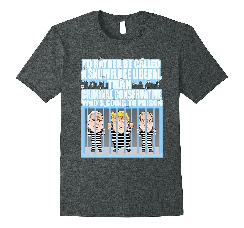 Funny Donald Trump Snowflake Jail T-shirt-Teeae