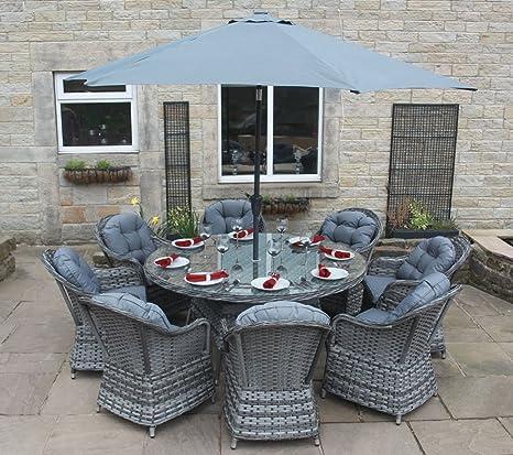 PKL Leisure Conjunto de Muebles de Comedor para jardín en ...