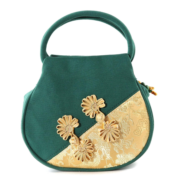 Vintage Handbags, Purses, Bags *New* Handmade Embroidered Handbag Dinner Women Ethnic Canvas Mini Purse  AT vintagedancer.com