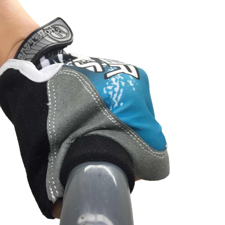 Guantes de ciclismo Wawacycle Gel Pad sin dedos (rojo, azul ...