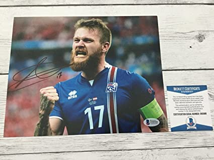 official photos a2af5 75452 Aron Gunnarsson Autographed Photo - Vikings 8x10 Beckett BAS ...