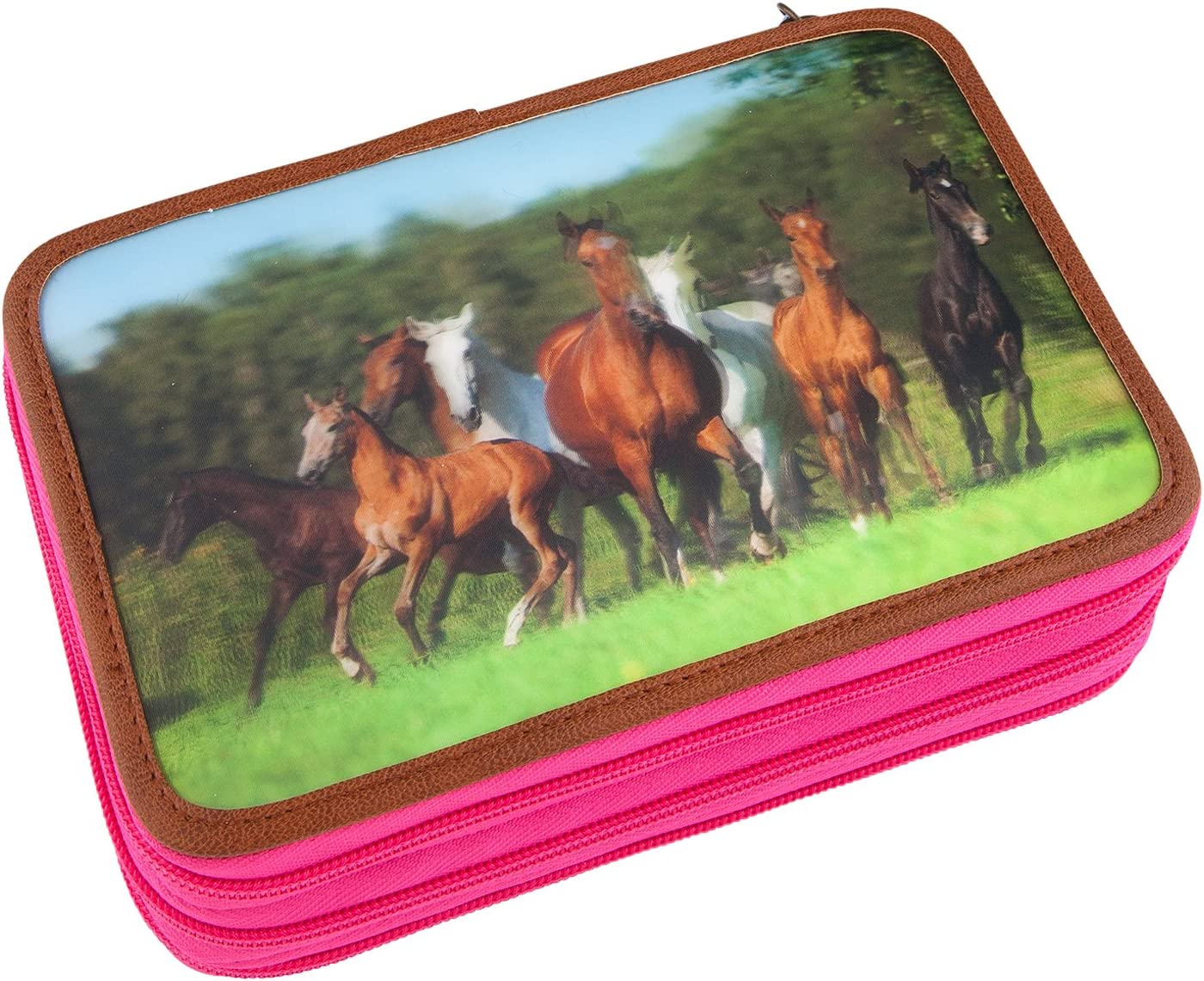 Mehrfarbig Unbekannt Horses Dreams 8726 Federtasche