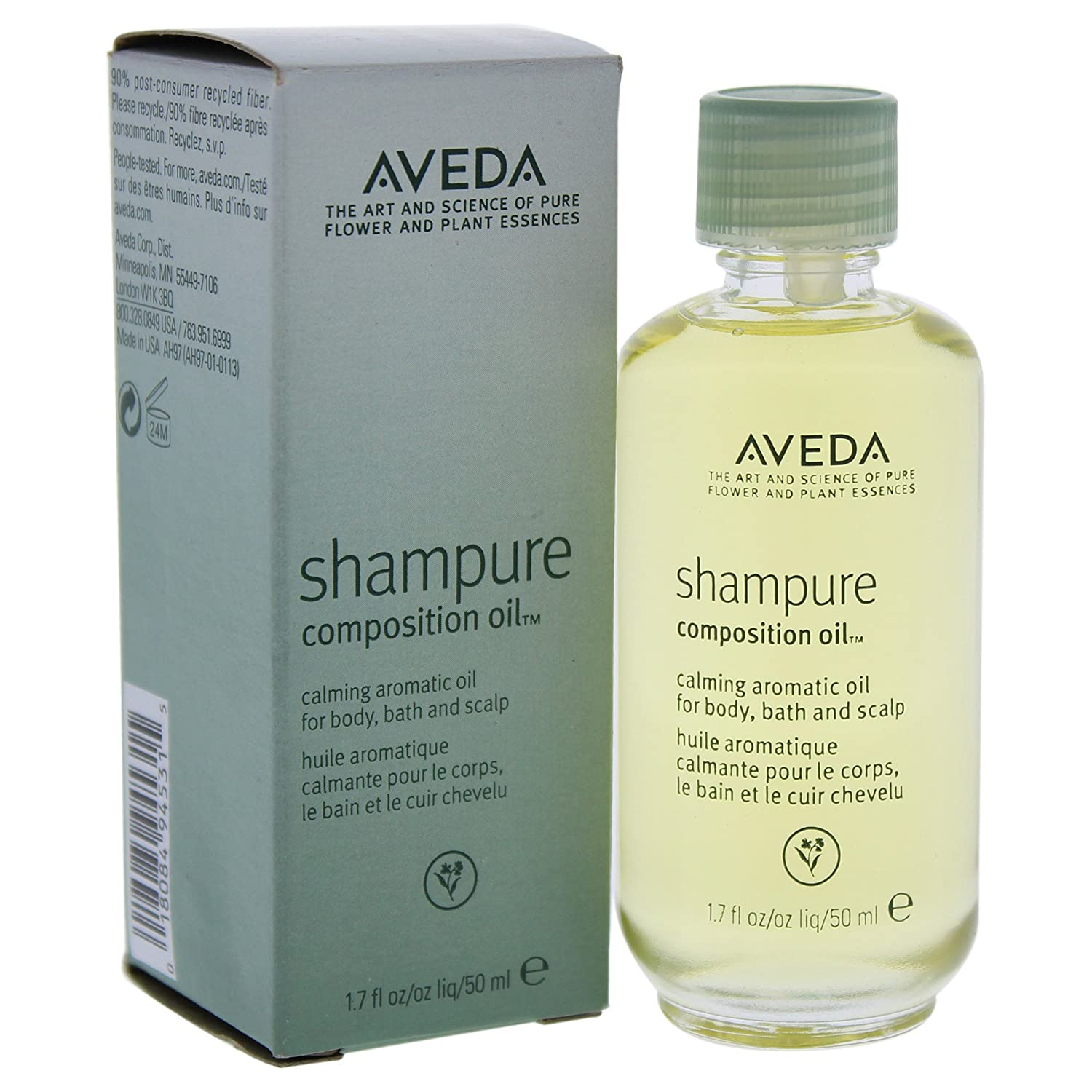 Aveda Shampure Composition Calming Aromatic Oil For Body Bath and Scalp 1.7 oz