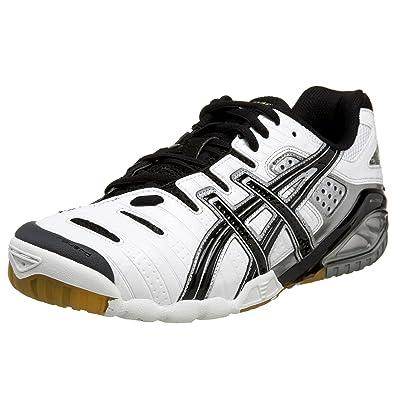ASICS Men\u0027s GEL-Sensei 3 Volleyball Shoe,White/Black/Gold,14