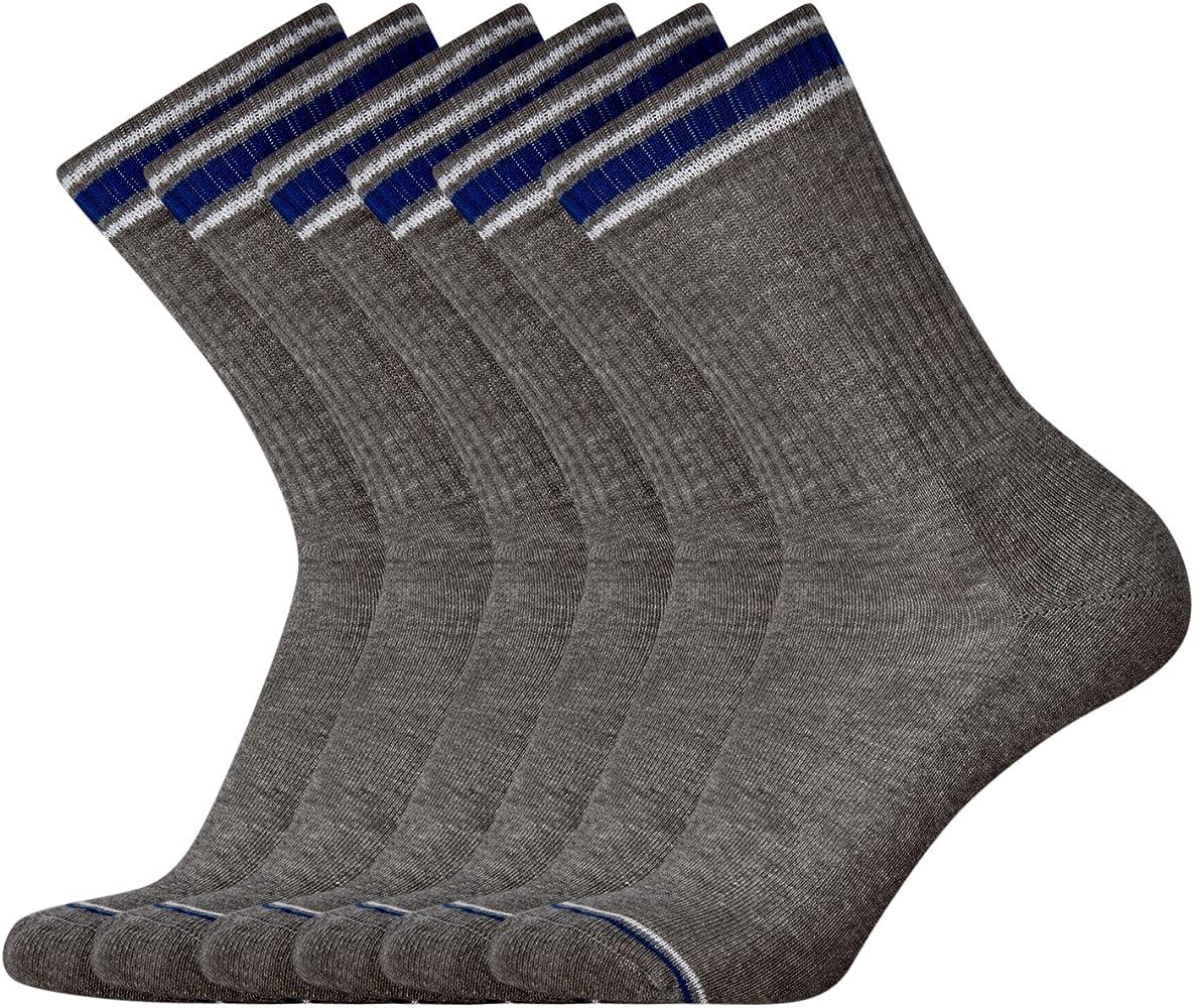 oodji Ultra Hombre Calcetines Deportivos (Pack de 6), Gris, ES 40-43 / one size: Amazon.es: Ropa y accesorios