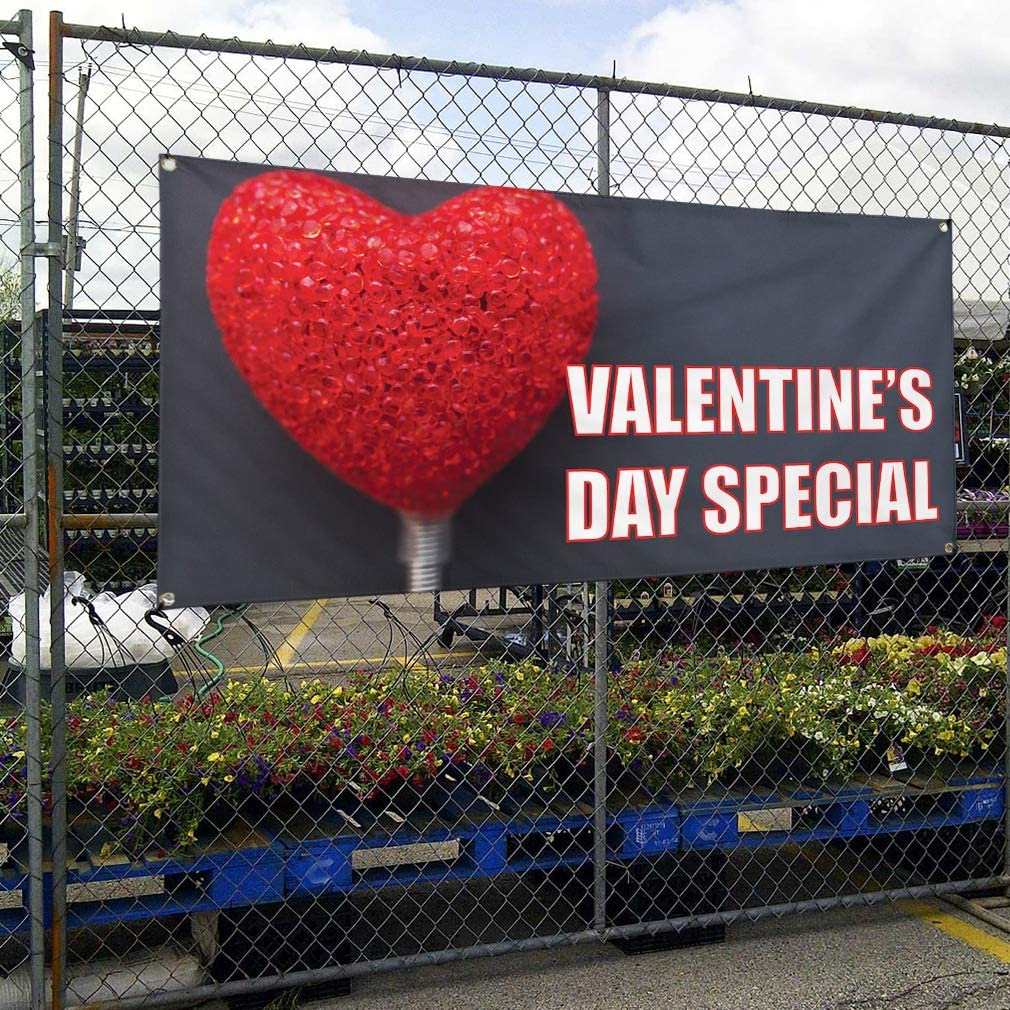 Vinyl Banner Multiple Sizes Valentines Day Special C Holidays and Occasions Outdoor Weatherproof Industrial Yard Signs 8 Grommets 48x96Inches