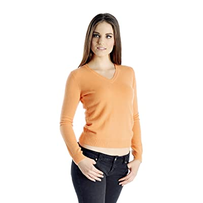 Cashmere Boutique: Women's 100% Pure Cashmere V-Neck Sweater (Color: Light Blue, Size: Medium) at Women's Clothing store: Pullover Sweaters
